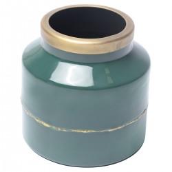 OLIA Vase Blue Oil Enamel...