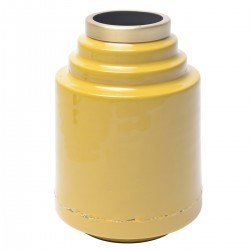 OLIA Vase Yellow Enamel and...