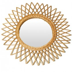 GARDEN Mirror Natural Rattan