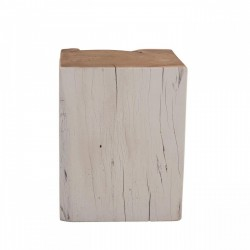 HINA Wooden Stool white