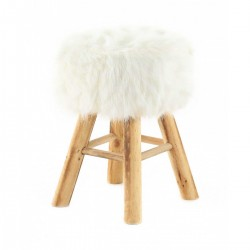 LASCO POUF White Stool