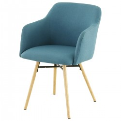 MAY FEUTEUIL Chair Blue Fabric