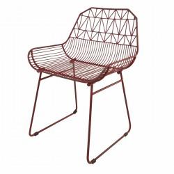 ORUS Chair Burgundy painted...