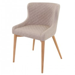 PARIS Beige Fabric Armchair