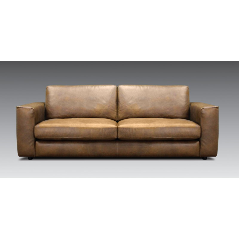 CELIA 3-Seater Leather Sofa