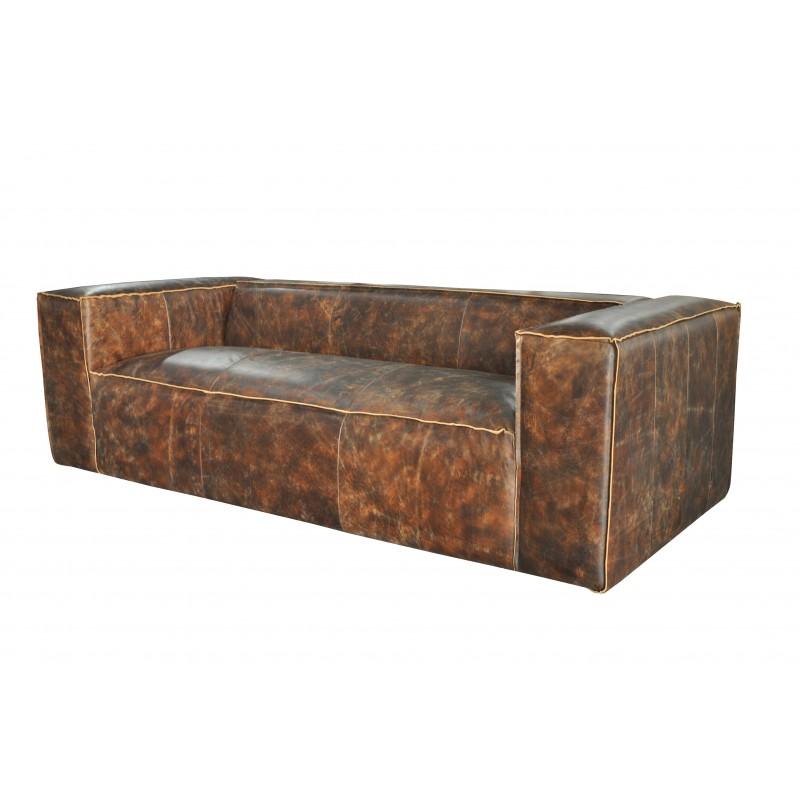 Leather Sofa Sydney: SYDNEY 3-Seater Vintage Brown Leather Sofa