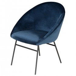 AXEL Armchair Velvet Blue
