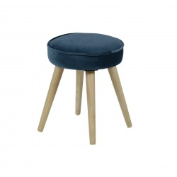 POPY Stool Blue Light Wood
