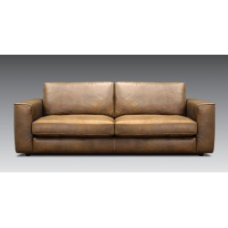 CELIA 2-Seater Leather Sofa