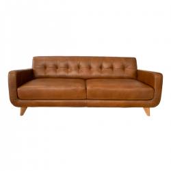 CASSIE 3-Seater Leather Sofa