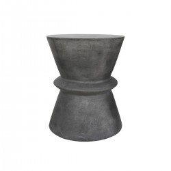 LINA Round Stool Dark Grey