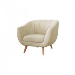 OSLO 1-Seater Sofa Light Brown