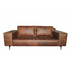 DAVE Brown Wax 3-Seater...