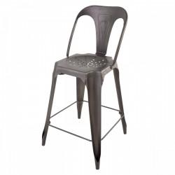 INDUSTRIAL Bar Chair Gun Metal